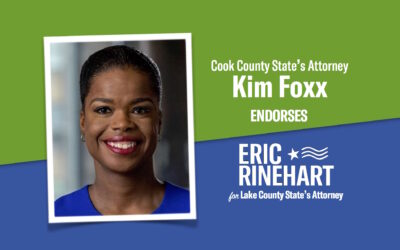Cook County State's Attorney Kim Foxx endorses Eric Rinehart for Lake County State's Attorney